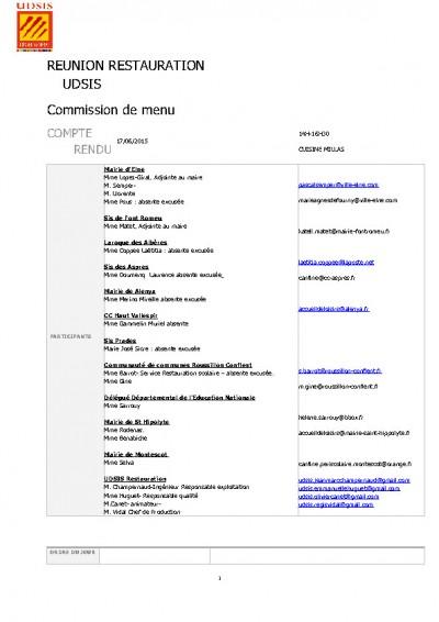 thumbnail of Compte rendu Commission de menu du 17 JUIN 2015